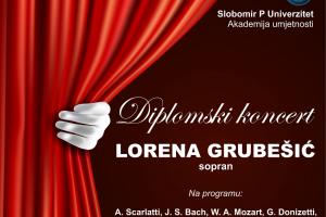 PLAKAT Diplomski koncert Lorena Grubešić